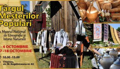 La Chișinău va fi organizat Târgul meșterilor populari