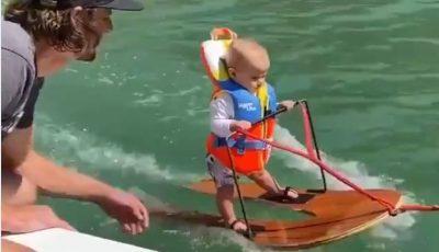 Video. Un copil de 6 luni a intrat în Cartea Recordurilor