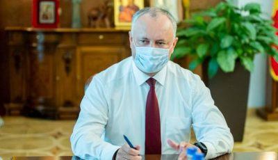 Igor Dodon a declarat că face testul la Covid o dată pe săptămână