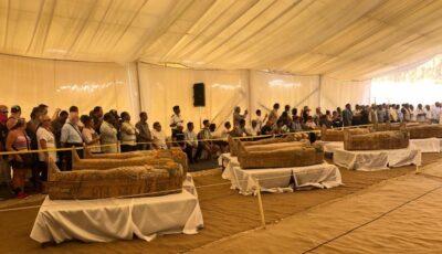Arheologii egipteni au deschis un sarcofag vechi de 2600 de ani