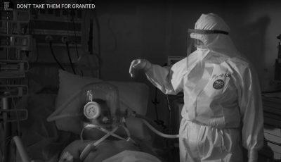 Imagini cutremurătoare din spitale, proiectate în centrul Bucureștiului