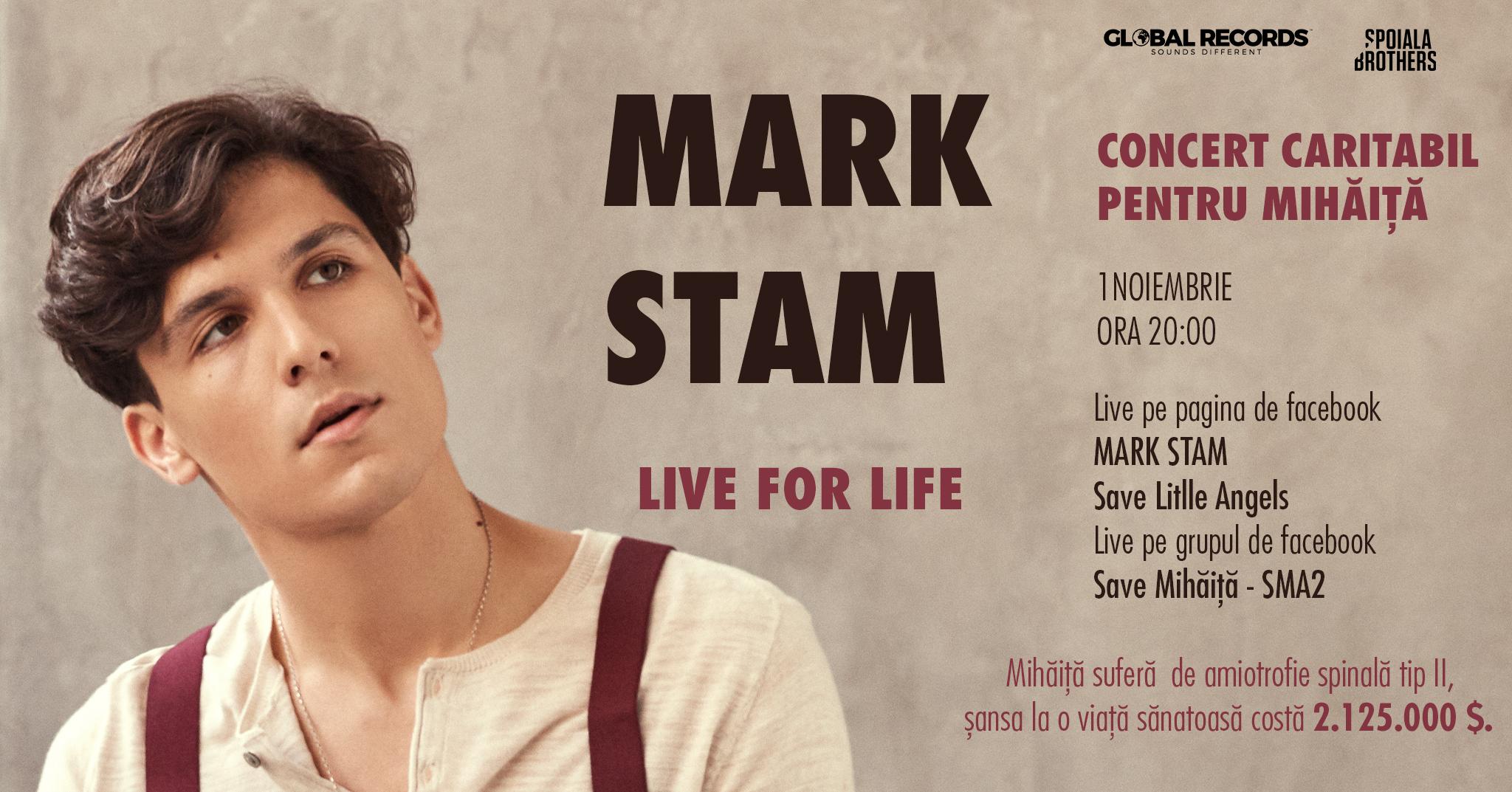 Foto: Mark Stam va susține un concert inedit pentru a-l ajuta pe Mihăiță! Află cum îl poți ajuta și tu!