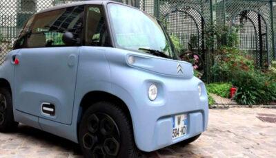 Citroën a lansat mașina care poate fi condusă fără permis. Bateriile se pot încărca la o priza normală în trei ore