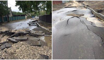 Dezastru la Leova: drumurile recent reparate au rezistat doar până la prima ploaie
