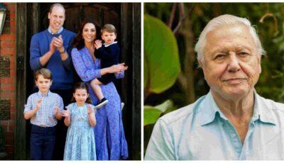 Video. Dialog între cei trei copii ai prinţului William și naturalistul David Attenborough. Ce întrebări i-au pus micuții?