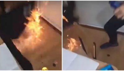 Câțiva elevi din Chișinău au dat foc la dezinfectant pe podeaua din clasă