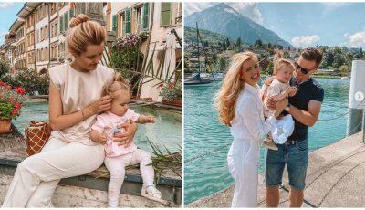 Zi cu mari emoții! Cristina Gheiceanu și-a dus fetița la grădiniță, în Elveția