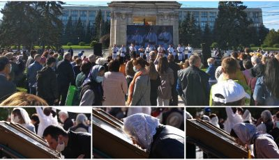 Imagini din centrul Chișinăului pe timp de pandemie