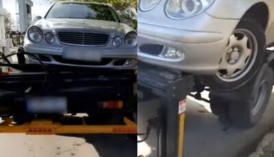 Mașina unui deputat a fost avariată în timpul evacuării