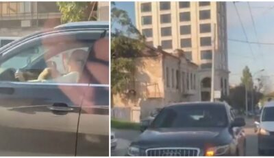 Mama care și-a alăptat bebelușul la volan a fost identificată și sancționată