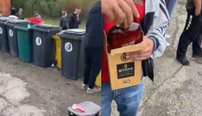 Moldoveni, obligați la vama Ungariei să arunce sticlele de coniac