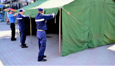 Două secții de votare vor fi amenajate în corturi speciale