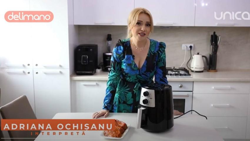 Foto: Adriana Ochișanu te invață să obții bucate crocante pe bază de aer cald