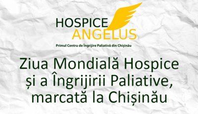 Ziua Mondială Hospice și a Îngrijirii Paliative va fi marcată la Chișinău