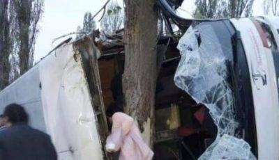 Un autobuz care circula pe cursa Chișinău-Moscova s-a răsturnat în Ucraina. Sunt răniți