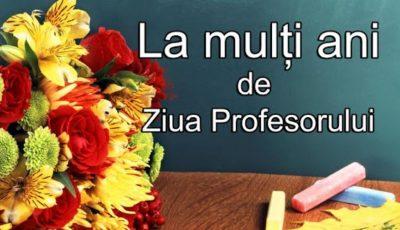 Astăzi este sărbătorită Ziua Internațională a Profesorului!
