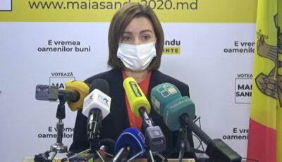 """Maia Sandu, apel către cetățeni: ,,Vă rog să ne solidarizăm, de responsabilitatea noastră depinde sănătatea și viața oamenilor"""""""
