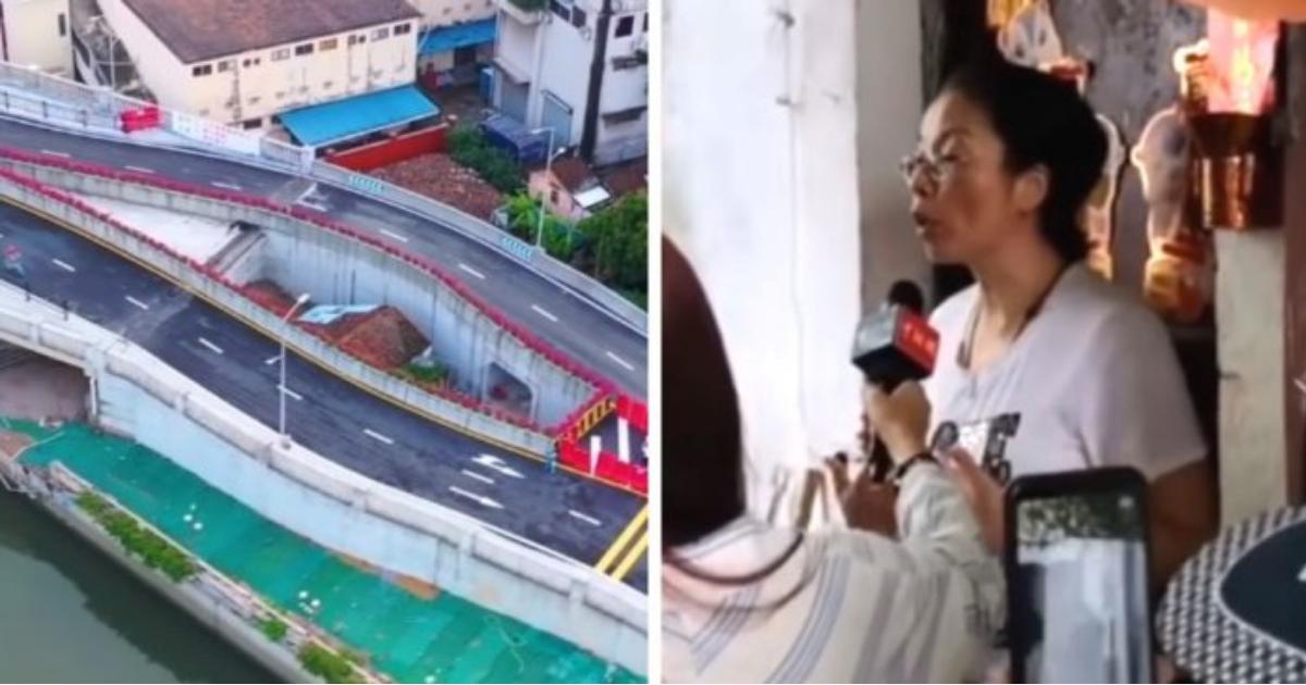 Foto: În China a fost construită o autostradă în jurul unei case, deoarece proprietara a refuzat să se mute