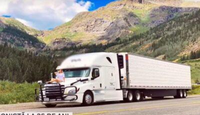 O tânără moldoveancă conduce de 3 ani un truck imens în SUA