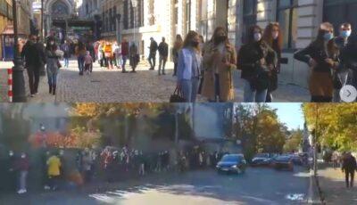 Cozi de câteva sute de metri, la secțiile de votare din București. Cetățenii își fac griji că nu vor reuși să voteze