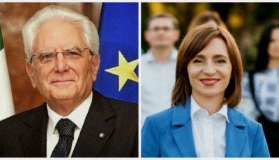 """Președintele Italiei, mesaj de felicitare pentru Maia Sandu: ,,Mult succes în desfășurarea înaltei funcții care v-a fost încredințată de poporul moldovean"""""""