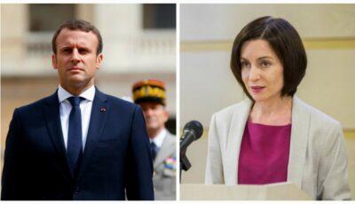 Emmanuel Macron, mesaj de felicitare adresat președintei nou alese Maia Sandu