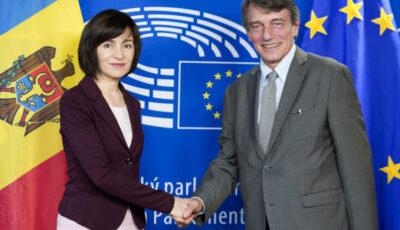 """Președintele Parlamentului European, felicitări pentru Maia Sandu: ,,Cetățenii moldoveni au trimis un semnal puternic"""""""