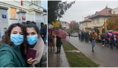 Și moldovenii din Praga au ieșit în număr mare la vot! Foto