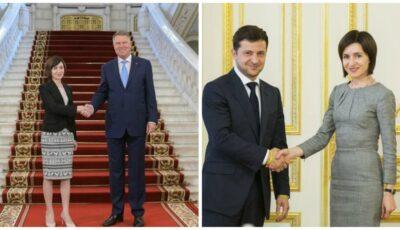 Vladimir Zelenski și Klaus Iohannis, primii șefi de state care o felicită pe Maia Sandu