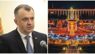 Premierul Ion Chicu: În acest an, fără târg de Crăciun și fără brad în centrul Capitalei