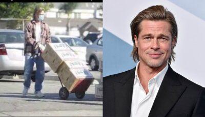 Brad Pitt ajută oamenii cu alimente în vreme de pandemie