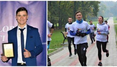 """Un tânăr medic rezident a alergat 75 km pentru a marca cei 75 de ani de la fondarea USMF """"Nicolae Testemițanu"""""""