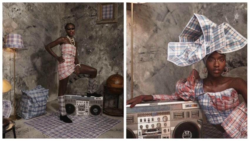 """Foto: Transformarea genților de rafie în ,,haute couture"""" de către creatorii de modă"""