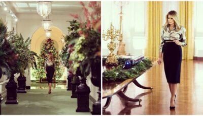 Atmosferă de basm la Casa Albă, înainte de Crăciun. Melania Trump a creat un clip filmat cu drona