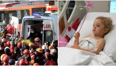Încă un miracol la Izmir: o fetiță de 4 ani a fost salvată de sub dărâmături, la 91 de ore de la seismul din Turcia