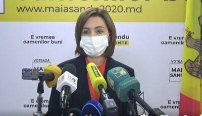 Maia Sandu cere Guvernului să ia în considerare nevoile sistemului medical și ale mediului de afaceri