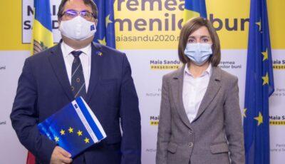Maia Sandu a avut o întrevedere cu Ambasadorul Uniunii Europene la Chișinău, Peter Michalko