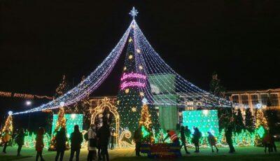 Poze! Bradul de Crăciun din centrul Capitalei a fost inaugurat