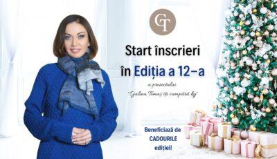 """Au început înscrierile la cea de-a 12-a ediție a proiectului ,,Galina Tomaș îți cumpără kg""""!"""