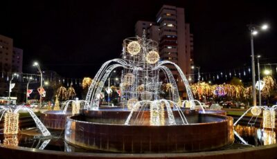 Foto! Orașul București, decorat în spiritul sărbătorilor de iarnă! Imagini din capitala României