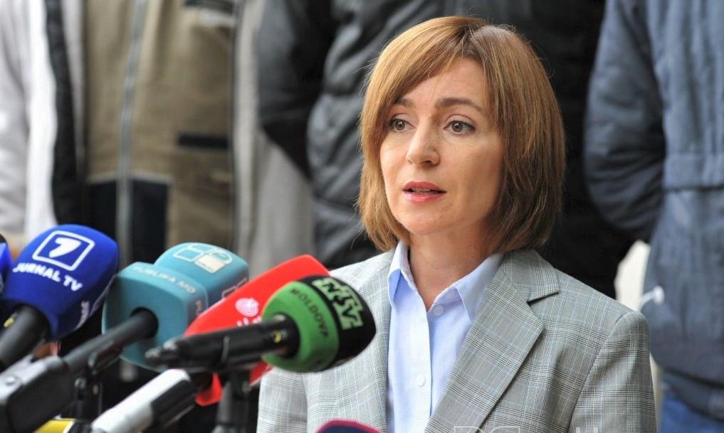 Foto: Președintele ales, Maia Sandu, îndeamnă oamenii să iasă mâine la protest