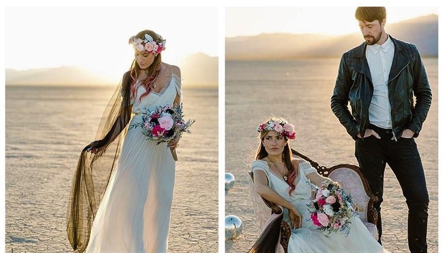 Foto: Povestea femeii care s-a căsătorit singură și a plătit un bărbat ca să apară cu ea în poze