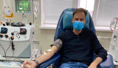 """Chiril Lucinschi a donat plasmă. ,,Am fost spitalizat și știu cât de dur poate fi Covid-19"""""""
