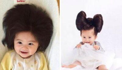 Cum arată la 3 ani fetița care  a devenit celebră datorită părului bogat la naștere