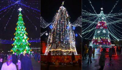 Vezi cum arată Brazii de Crăciun din Orhei, Bălți și alte orașe ale țării!