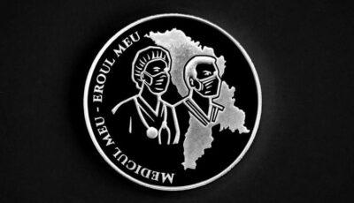 """Moneda """"Medicul meu – eroul meu"""", pusă în circulație de Banca Națională a Moldovei"""