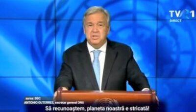 ONU: Planeta intră în faliment și noi suntem responsabili pentru asta
