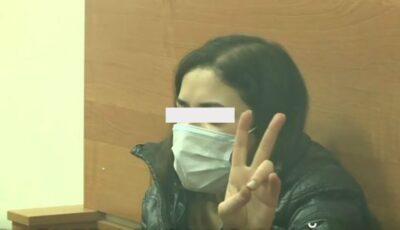 Video din sala de judecată. Tânăra din Comrat care și-a ucis mama a primit 30 de zile  de arest