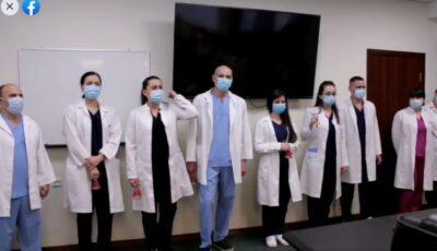 """Video! Urătura inedită a medicilor de la spitalul ,,Timofei Moșneaga"""" pentru colegii lor"""
