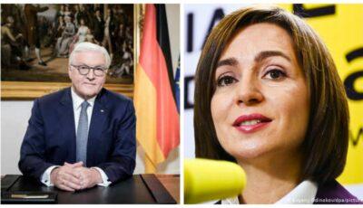 Maia Sandu a avut astăzi o convorbire telefonică cu președintele Germaniei